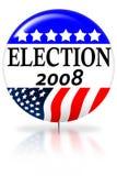 dagvalet för 2008 knapp röstar Arkivfoto