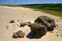 Dagzomende aardlaag van oud zand Stock Afbeelding