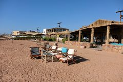Dahab beach on Red Sea, Sinai royalty free stock photo