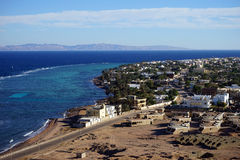 Dahab and Red sea. Dahab and coast of Red sea in Sinai, Egypt Stock Photo