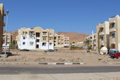 Dahab in the Sinai Peninsula. The small town of Dahab on the Sinai Peninsula. Egypt Royalty Free Stock Photos