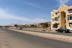 Dahab in the Sinai Peninsula. The small town of Dahab on the Sinai Peninsula. Egypt Stock Photography