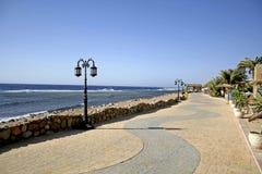 Dahab walkway, red sea beach Stock Photos