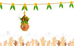 Dahi Handi on Janmashtami Stock Photography