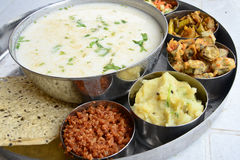 Dahi pakhala. Is an Oriya term for an Indian food consisting of cooked rice washed or little fermented in water. The liquid part is known as Toraṇi.It is Royalty Free Stock Photography