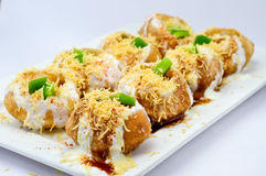 Dahi puri Stockfotos