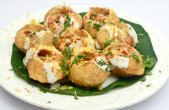 Dahi puri or dahi papdi Stock Photography