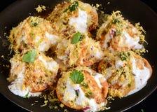 Dahi puri or Dahi Sev Puri -Mumbai Street food stock images