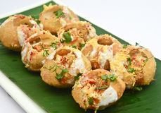 Dahi puri -Mumbai Street food Royalty Free Stock Photography