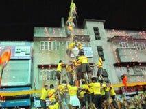 DahiHandi-festival i Indien Royaltyfri Fotografi