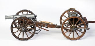 1863 Dahlgren大炮和limbert推车 免版税库存图片