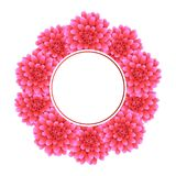 Dahlia Banner Wreath rose Fleur de ressortissant du ` s du Mexique Illustration de vecteur Illustration Libre de Droits