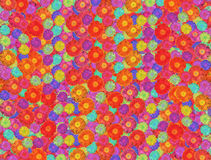 Dahlia flowers background collage Stock Photos