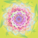DAHLIA LIGHT COLOR MANDALA FLOWER, ABSTRACT BACKGROUND, PASTEL COLORS PALLET, VINTAGE IMAGE royalty free illustration