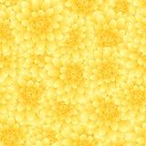 Dahlia Seamless Background amarela Flor do nacional do ` s de México Ilustração do vetor ilustração do vetor