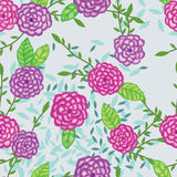 Dahlia watercolor fabric simply seamless pattern Stock Photos