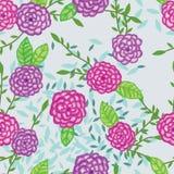 Dahlia watercolor fabric simply seamless pattern Stock Photos