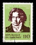 Dahomey na znaczkach pocztowych fotografia stock