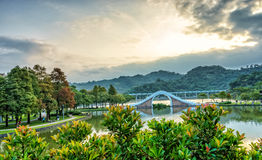 Dahu park  in taiwan. November 11, 2014 Royalty Free Stock Photos
