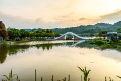 Dahu park  in taiwan. November 11, 2014 Stock Image