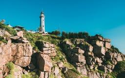 Dai Lanh lighthouse, Vietnam royalty free stock image