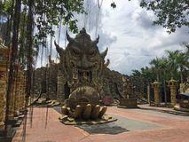 Dai Nam Park near Ho Chi Minh City. Entrance to the mysterious temple Royalty Free Stock Photo