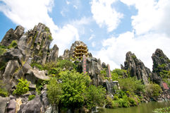Dai Nam Temples and Safari Park in Vietnam. Tourist, Cultural and Historical Zone Royalty Free Stock Images