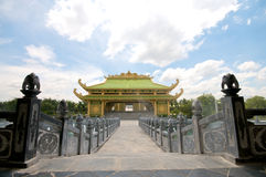 Dai Nam Temples and Safari Park in Vietnam. Tourist, Cultural and Historical Zone Royalty Free Stock Photo