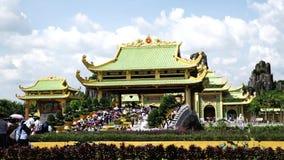 Dai Nam Van Hien комплекс туризма в провинции Binh Duong, Вьетнаме сток-видео