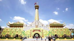 Dai Nam Van Hien ist ein Tourismuskomplex in Binh Duong-Provinz, Vietnam stock video footage