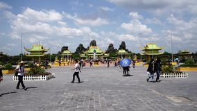 Dai Nam Van Hien is a tourism complex in Binh Duong province, Vietnam stock video