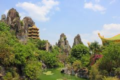 Dai Nam Wonderland, Vietnam. Dại Nam Van Hien is a huge park and tourist attraction in Binh Duong, Vietnam. It was finished in the year 2008 and is currently Stock Photo