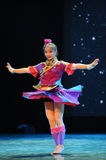 The Dai nationality girl-Folk dance Royalty Free Stock Images