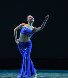 The Dai nationality girl-The national folk dance Stock Image