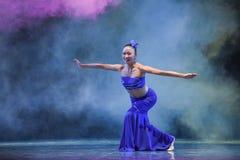 The Dai nationality girl-The national folk dance Royalty Free Stock Photo