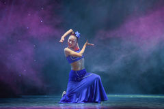 The Dai nationality girl-The national folk dance Royalty Free Stock Image