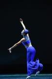 The Dai nationality girl-The national folk dance Royalty Free Stock Photos
