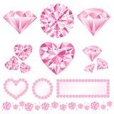 Daiamond cor-de-rosa Fotos de Stock Royalty Free