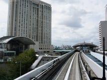 Daiba station. Hotel Grand Nikko Tokyo stock photos