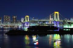 Daiba in Tokyo. City at night Royalty Free Stock Images