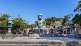 Daibutsu - ο μεγάλος Βούδας του ναού Kotokuin μέσα Στοκ Εικόνες