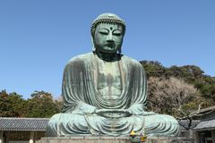 Daibutsu, большая статуя Будды, Япония стоковое изображение rf