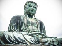 Daibutsu Buddha av Kamakura Royaltyfri Bild