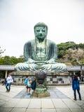 Daibutsu Buddha av Kamakura Royaltyfria Foton