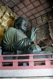 Daibutsu Buddha statue in Todaiji temple. Daibutsu Buddha statue located in Todaiji temple in Nara, Japan.  This is the world`s largest bronze Buddha statue Stock Image