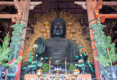 Daibutsu in the Daibutsu-den at Todaiji Temple Royalty Free Stock Photography