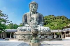 Daibutsu El gran Buda del templo de Kotokuin en Kamakura Imágenes de archivo libres de regalías