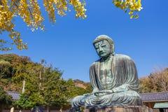 Daibutsu - grand Bouddha de temple de Kotokuin à Kamakura Images libres de droits