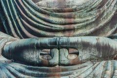 Daibutsu - grand Bouddha de temple de Kotokuin à Kamakura Photo libre de droits