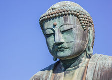 Daibutsu - grand Bouddha de temple de Kotokuin dedans Photos stock